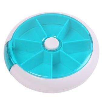LALANG Portable Round Medical Pill Box Mini 7 Slots Green Price Philippines