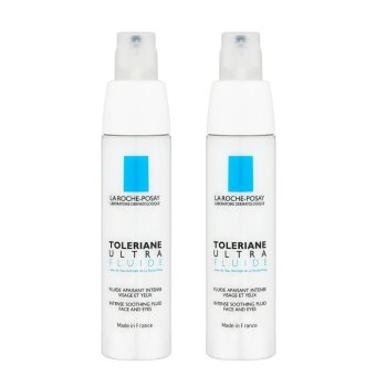 2 x La Roche-Posay Toleriane Ultra Fluide Intense Soothing Fluid Face and Eyes (Ultra-Sensitive or Allergic Combination to Oily-Prone Skin) 40ml - intl Price Philippines