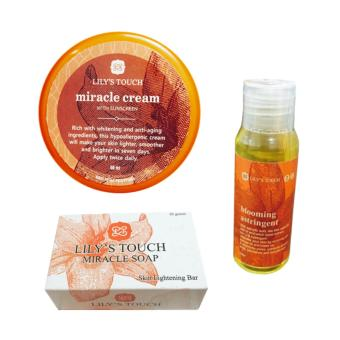 Lily's Touch Miracle Cream 50ml, Miracle Soap 90g, and Blooming Astringent 50ml Bundle Price Philippines