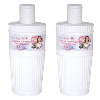 Harga Maxi 99 Goat's Milk & Pearl Whitening Hand & Body Lotion Set of 2x220ml