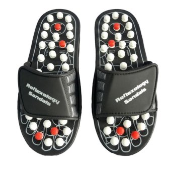 Harga Foot Reflex Massage Slippers L 1 Pair Set (Black)