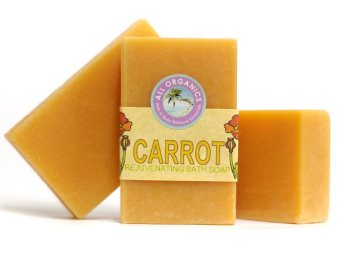 Harga Milea Organic Carrot Nourishing and Moisturizing Soap 100g Set of 3