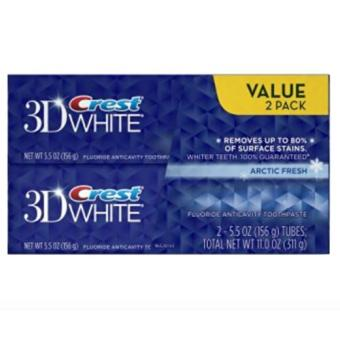 Crest 3D White Arctic Fresh Icy Cool Mint Flavor, Whitening Toothpaste, Twin Pack, 5.5 Oz Each Price Philippines