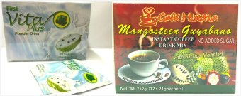 Harga Vita Plus Guyabano Flavor Natural Health Drink and Cafe Historia Mangosteen Guyabano Healthy Set