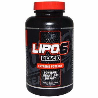 Harga Nutrex LIPO6 Black Extreme Potency Powerful Weight Loss Support 120 Capsules