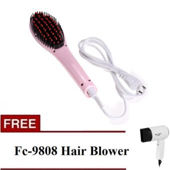 Harga Fast Hair Straightener with free Fc-9808 Hair Blower