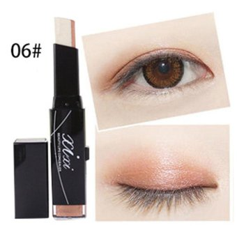 Harga TOP Eye Shadow Stick Double Color Woterproof Women Beauty Natural Cream Pen - intl
