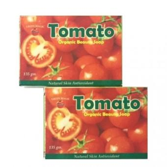 Harga AA&LL - Green Magic Tomato Organic Beauty Soap - set of 2