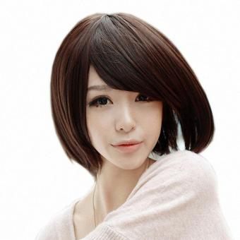 Women's Bobo Wig Straight Short Hair Wigs With Bangs - intl Price Philippines