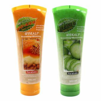 Harga Wokali Face Scrub Honey Almond & Cucumber