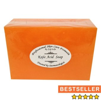 Harga Kojic acid + WHITENING soap 135g. Professional skin care by J.G & Co. Soap Factory. Kojic (color orange)