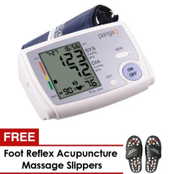 Harga Upper Arm Electronic Blood Pressure Monitor (White) and FREE Foot Reflex Acupuncture Massage Slippers