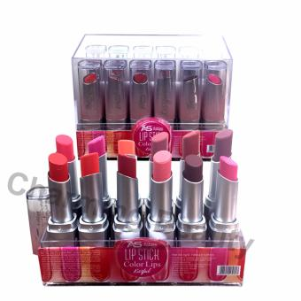 Ashley Shine Lipstick Color Lips Kissful 12pcs ~Multicolor Price Philippines
