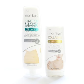 Morrison Stretchmark Collagen Body Cream 100ml with Morrison Collagen Whitening 2-in1 Lotion 100ml Price Philippines