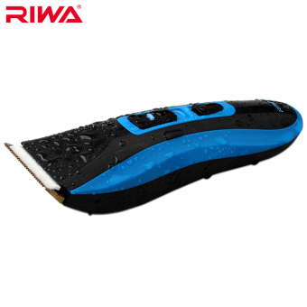 Riwa RE-750A high quality CE certificated IPX7 grade waterproof professional hair trimmer blue color Cordless hair clipper Price Philippines