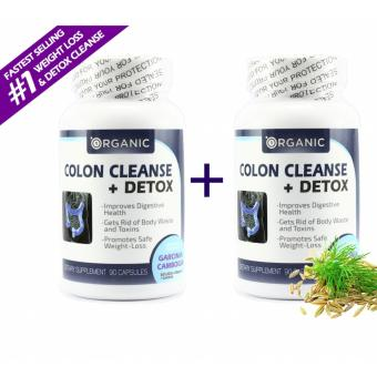 1Organic Colon Cleanse + Detox, Eliminate Toxins, Boost Energy and Stamina, All Natural, Non-Irritant, Digestive Health, Lose Weight, 2 BOTTLES COMBO - 180 Capsules Price Philippines