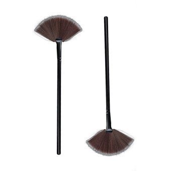 Harga Professional Blending Fan Face Powder Blush Brush Makeup Tool