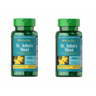 Harga Puritan's Pride St. John's Wort 100 Tabs / Bottle 300 mg Set of 2