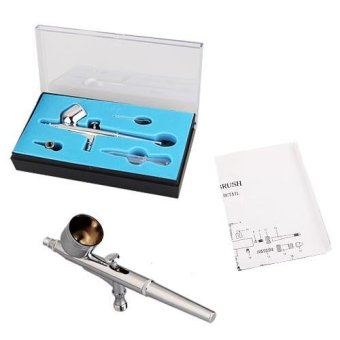 OEM Professional Air Brush Spray Gun for Nail Art - Silver Price Philippines