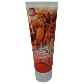 Harga 3W Clinic Pure Clean Scrub Foam Cleansing Red Ginseng