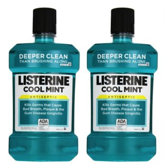 Harga Listerine Antiseptic Mouthwash 1.5L Set of 2 (Cool Mint)