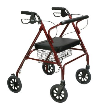 Taiwan Medical Walker Rollator with Seat and Wheels (Red) Price Philippines