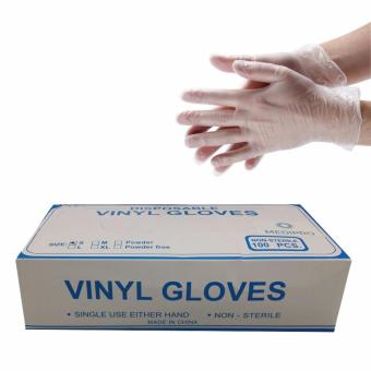 Vinyl Gloves Powder Free Clear 100pcs/Box-Extra Large Price Philippines