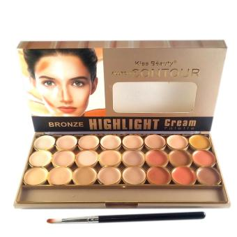 Harga Kiss Beauty All Around Contour BRONZE HIGHLIGHT Cream 24 Palette