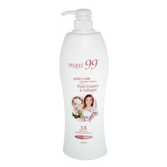 Harga Maxi99 Goat's milk shower cream with Pearl Essence & Collagen 1000ml