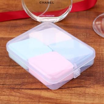 Diamond shaped powder puff box(4pcs) Price Philippines