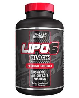 Harga Nutrex LIPO-6 Black Extreme Fat Destroyer 120 Capsules