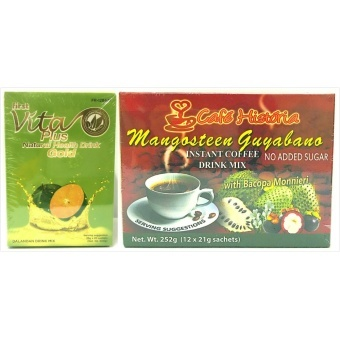 Harga First Vita Plus Gold Dalandan Natural Health Drink and Cafe Historia Mangosteen Guyabano Coffee Healthy Set