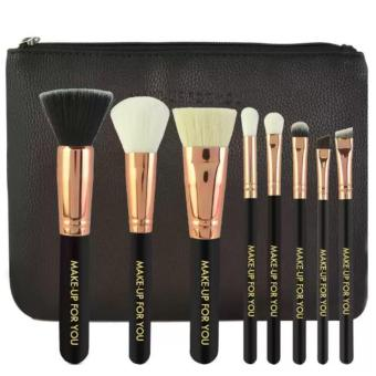 Harga Make-Up For You 8pcs Brush with Cosmetic Make Up Bag (Black)