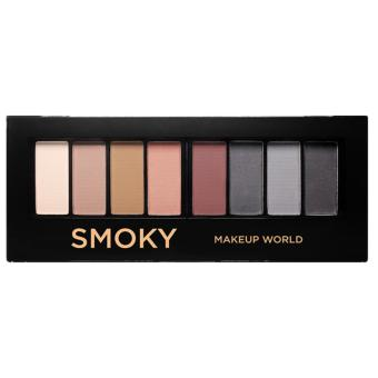 Harga Makeup World Eyeshadow Palette ( Smoky )