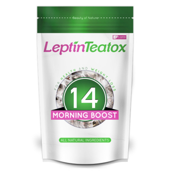 Harga Leptin Teatox Morning Boost 14-day Weight Loss Tea Detox (14 teabags)