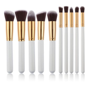 Harga Professional 10Pcs Cosmetic Makeup Make Up Brush Brushes Makeup Kits Sets - Intl