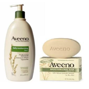 Aveeno Daily Moisturizing Lotion 591ml and Aveeno Active Naturals, Moisturizing Bar, Fragrance Free, 3.5 oz (100 g) Price Philippines