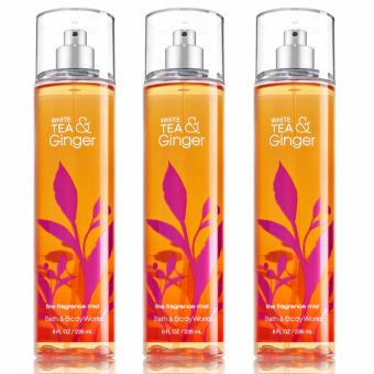 Harga Bath and Body Works White Tea and Ginger Fine Fragrance Mist 236ml (Lot of 3)