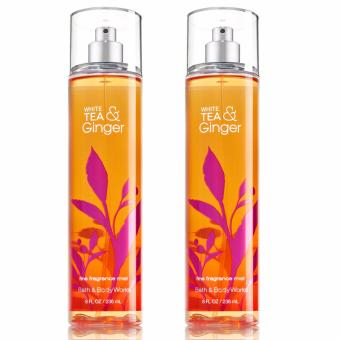 Harga Bath and Body Works White Tea and Ginger Fine Fragrance Mist 236ml (Lot of 2)