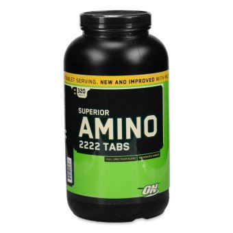 Harga Optimum Nutrition Superior Amino 2222 Tablets, Bottle of 320 Tablets