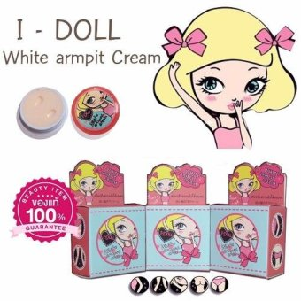 Harga I-Doll White Armpit Cream Underarms Bikini Whitening Lightening Pink Nipples 5g (Bundle of 3)