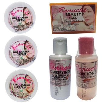 Beauche Beauty Pack Set (Creams are 1 Exfoliating Cream and 2 Age Eraser Creams) Price Philippines