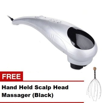 Harga Huang SK0288B Big Dolphin Massager Silver with FREE Hand Held Scalp Head Massager Black