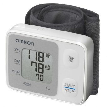 Harga Omron HEM-6121 Wrist Type Blood Pressure Monitor (White)
