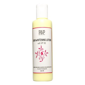 P&P Skin Care Skin Whitening Lotion with SPF 60 120ml Price Philippines