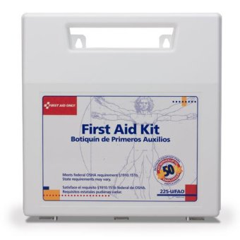 Harga 196 PCS Emergency First Aid Kit OSHA / ANSI compliant ( 50 persons ) with mountable carrying case ( USA )