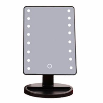 Impressions Vanity Touch Dimmable LED Makeup Mirror Glossy (Black)