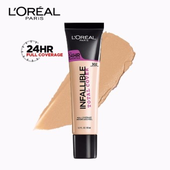 Infallible Total Cover Liquid Foundation - 302 Creamy Natural [#GotItCovered 24HR Full Coverage] by L'Oreal Paris