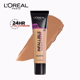 Infallible Total Cover Liquid Foundation - 308 Sun Beige [#GotItCovered 24HR Full Coverage] by L'Oreal Paris