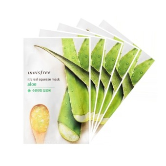 Innisfree It's Real Squeeze Mask- Aloe 20ml (Set of 5)